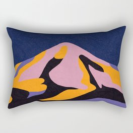 Over The Sunset Mountains II Rectangular Pillow