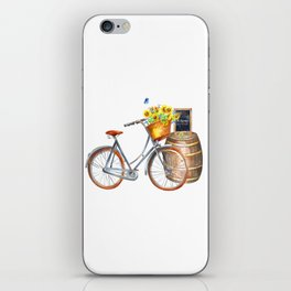 Sunflower Bicycle iPhone Skin