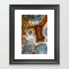Colorful world of gems Framed Art Print