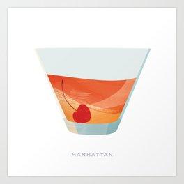 Cocktail Hour: Manhattan Art Print