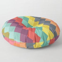 Rombs retro color Floor Pillow