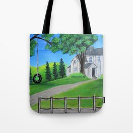 The front yard Tote Bag