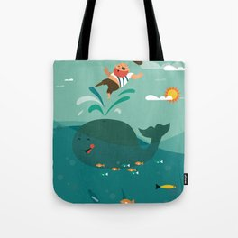 Whales and Pirates Tote Bag