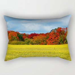 Blue Red Yellow Green and White Rectangular Pillow