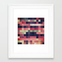 quilt Framed Art Prints featuring quilt n2 by spinL