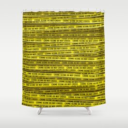 Crime scene / 3D render of endless crime scene tape Shower Curtain