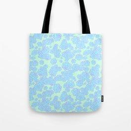Blue n' Purple Sketchy Rose Print Tote Bag