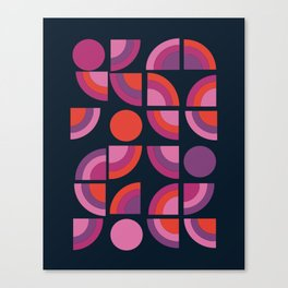 Outta Sight - 70s retro throwback trendy vintage style geometric 1970's Canvas Print