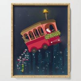 Holly Jolly Trolley Serving Tray