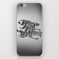 Live Fast Die Young - Black and White iPhone Skin