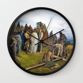 Gustave Dore - Christ on Golgotha Hill - Digital Remastered Edition Wall Clock