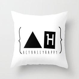 Actually Happy  Throw Pillow