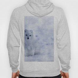 Watercolor Arctic Fox Hoody