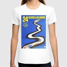 24hs Le Mans, 1972, vintage poster T-shirt