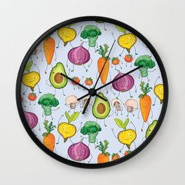 Don't Forgetcha Veggies! Wall Clock