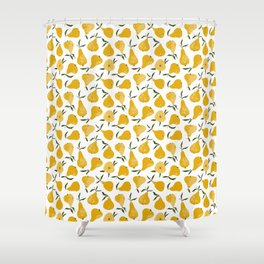 Yellow pear Shower Curtain