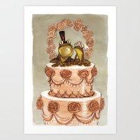 Frog Wedding Art Print