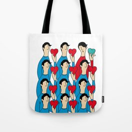 different heart Tote Bag
