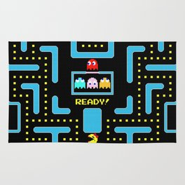 pac-man blue Rug