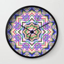 Colourful Kaleidoscope Wall Clock