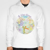le petit prince Hoodies featuring Le Petit Prince- The little Prince flying by Colorful Simone