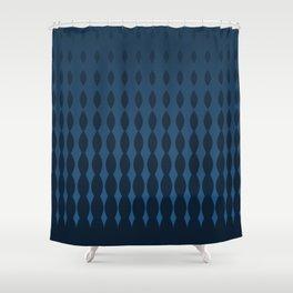 Blue Halftone Style Gradient Pattern Shower Curtain