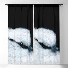 White Bird Black Background #decor #society6 #buyart Blackout Curtain