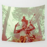 goddess Wall Tapestries featuring Goddess by Farkas B. Szabina
