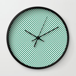 Jelly Bean Green Polka Dots Wall Clock