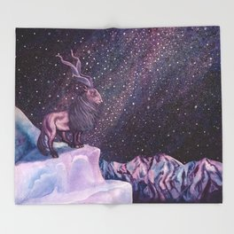 Milky Way Markhor Throw Blanket