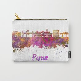Pune skyline in watercolor Carry-All Pouch
