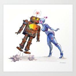 Sweet, Sweet Robot Love Art Print