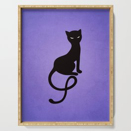 Gracious Evil Black Cat Serving Tray