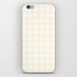 Diamonds - White and Cornsilk Yellow iPhone Skin