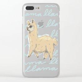 Llama Be My Best Clear iPhone Case