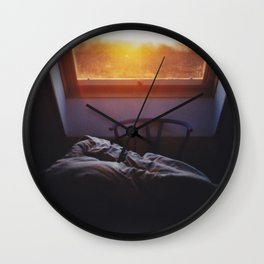 Sunset in bed Wall Clock