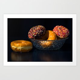 Donuts in Bowl Art Print