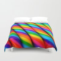 candy Duvet Covers featuring Rainbow Candy : Candy Canes by WhimsyRomance&Fun