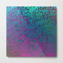 Colorful Corroded Background G296 Metal Print