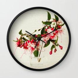 Beautiful Fuchsia flower Wall Clock