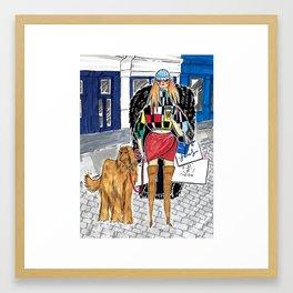 SoHo Girl – Original Fashion art, Fashion Illustration, Fashion wall art, Fashion painting, New York Framed Art Print