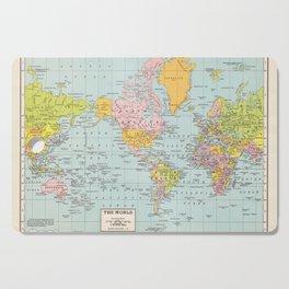 World Map Cutting Board