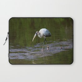 Striding Wood Stork Laptop Sleeve