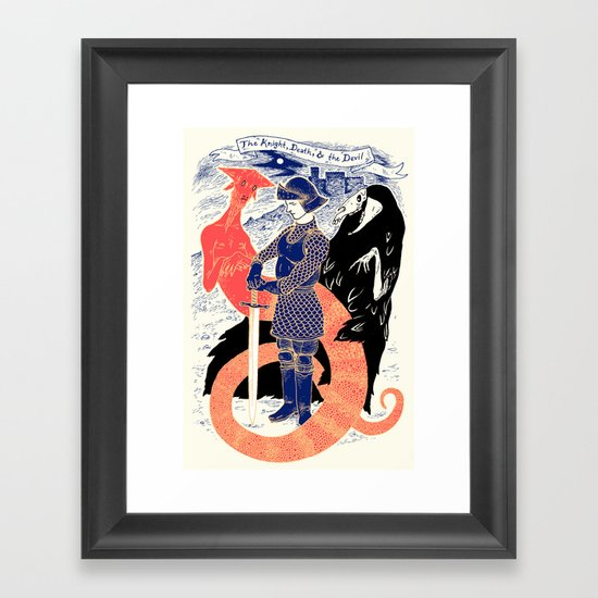 The Knight, Death, & the Devil Framed Art Print