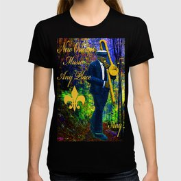 NEW ORLEANS JAZZ TROMBONE LET THE GOOD TIMES ROLL!! T-shirt