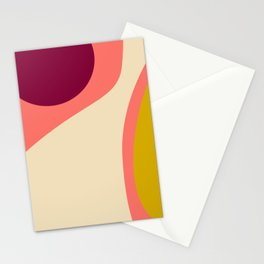 abstract composition 2 - modern blush pink Stationery Cards