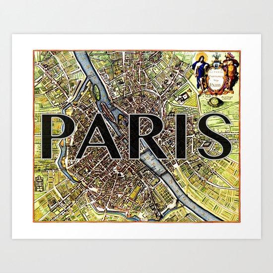 City of Paris Circa 1650 Art Print