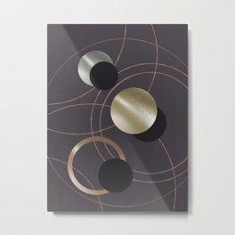 Golden Eclipses Metal Print