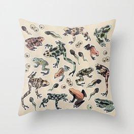 Frog pattern Throw Pillow