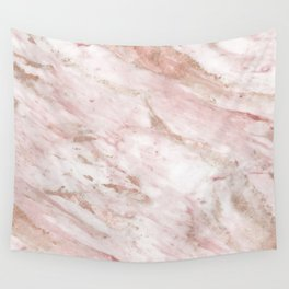 Pink marble - rose gold accents Wall Tapestry